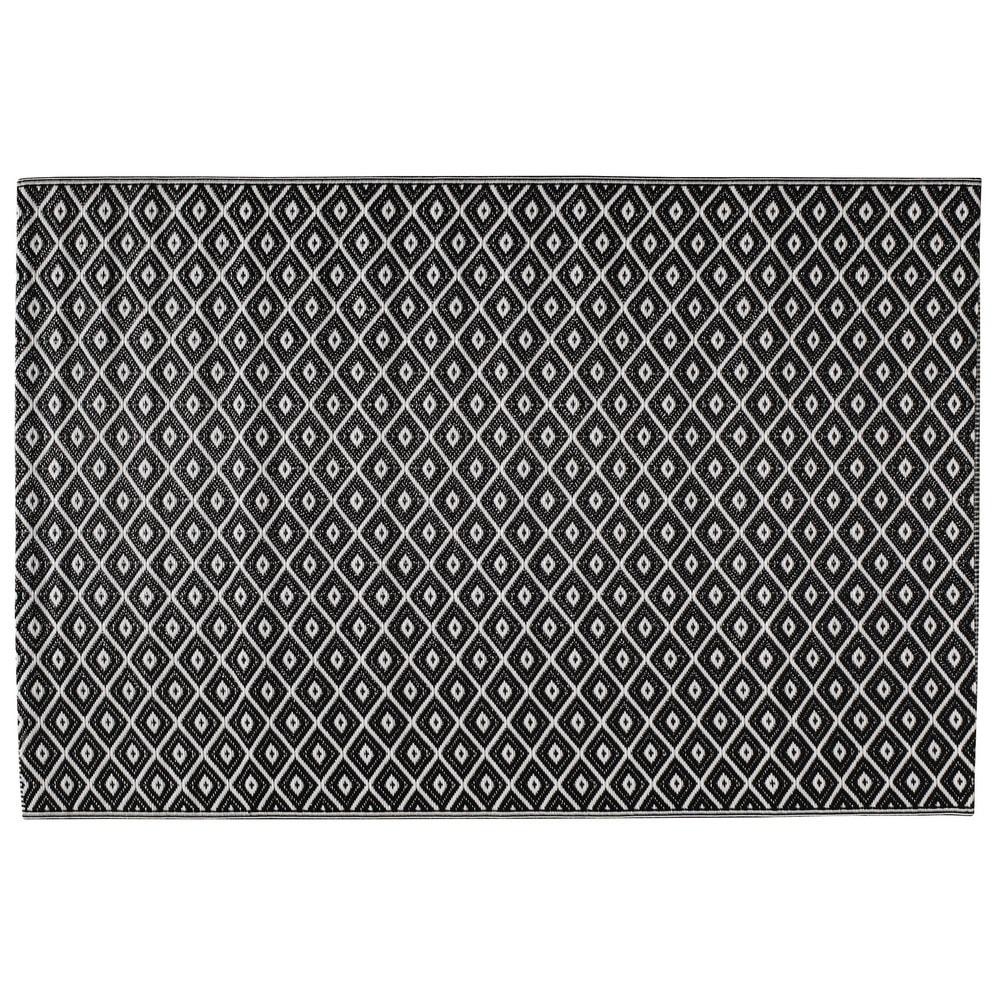 Alfombra de exterior blanca negra de polipropileno 120 - Alfombras de polipropileno ...