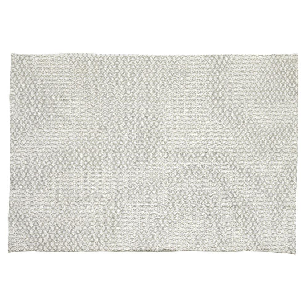 Alfombra gris de algod n 60 120 cm origami maisons du - Alfombras de algodon ...