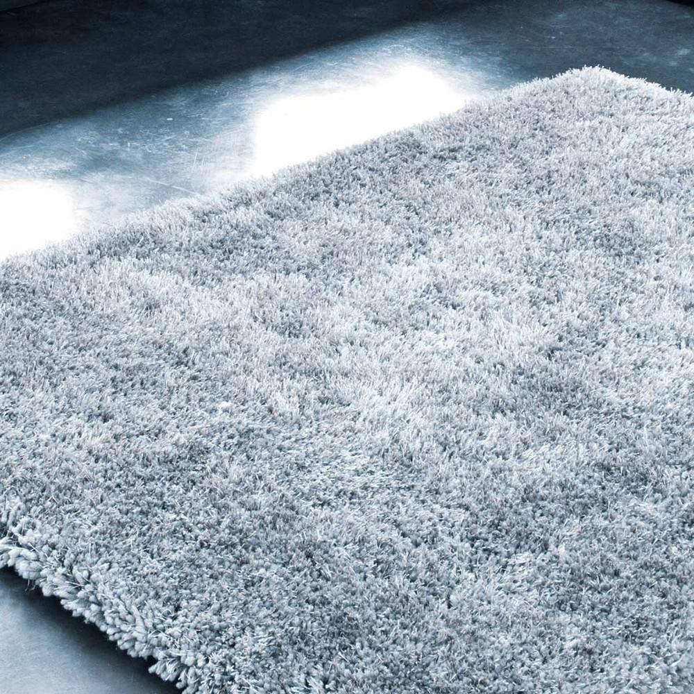 alfombra gris polaire 140x200 maisons du monde