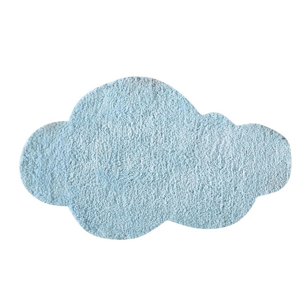 Alfombra infantil azul 60 100 cm nuage maisons du monde for Alfombra infantil azul