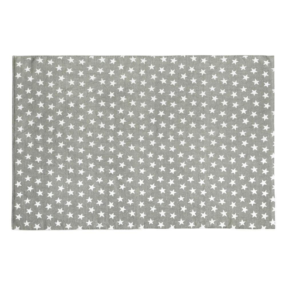 alfombra infantil de algodn gris cm star