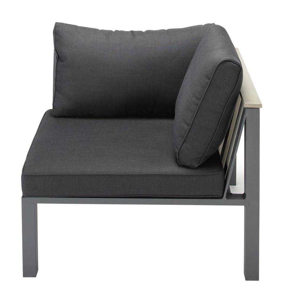 Garden Sofa Corner Unit: Aluminium Garden Sofa Corner Unit In Charcoal Grey Bergame