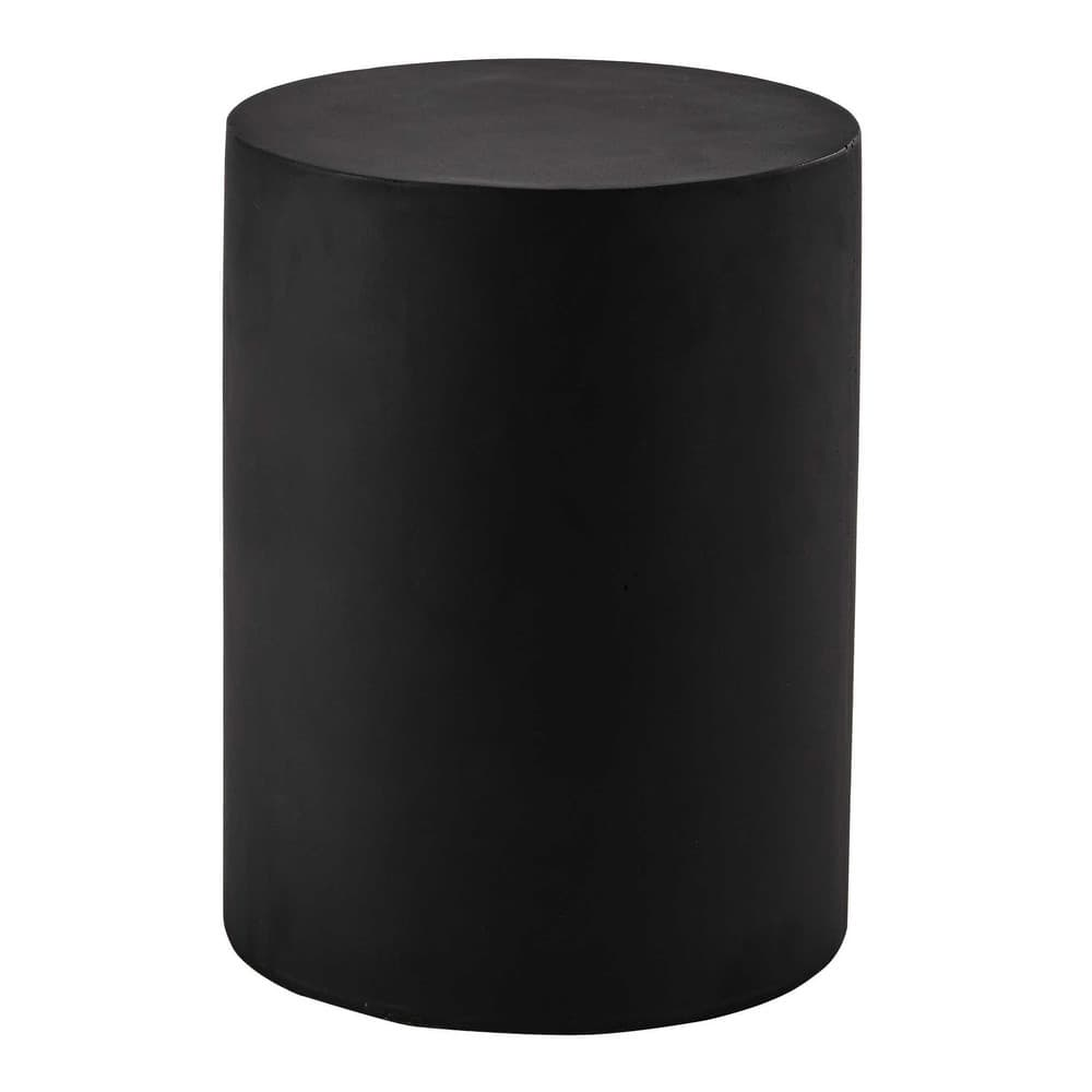 ALVIN Resin Side Table In Black D 30cm