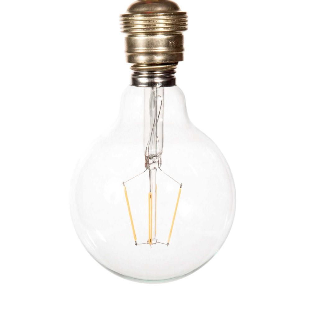 ampoule led en verre d 10 cm globus clear maisons du monde. Black Bedroom Furniture Sets. Home Design Ideas