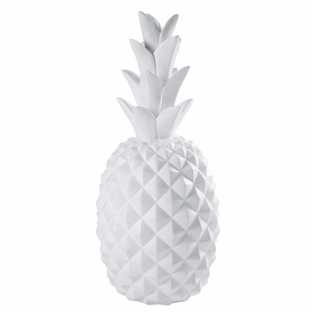 Ananas statue aus mattwei em harz janeiro maisons du monde - Ananas maison du monde ...