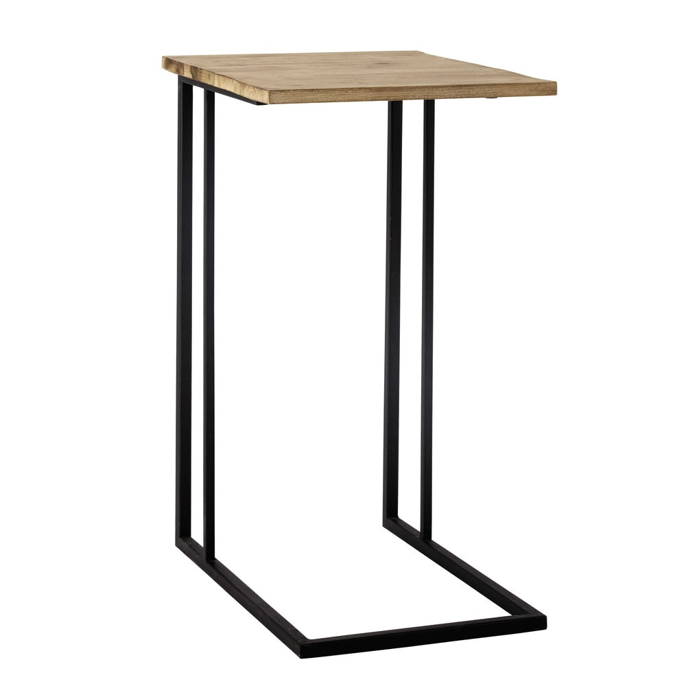 Andrew metal side table in black w 40cm maisons du monde - Table bois metal design ...