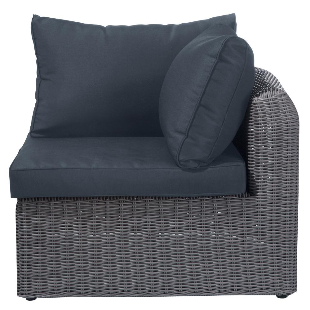 angle de canap de jardin en r sine tress e taupe palerme. Black Bedroom Furniture Sets. Home Design Ideas