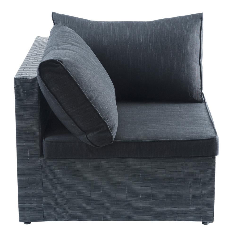 angle de canap de jardin en tissu anthracite ibiza. Black Bedroom Furniture Sets. Home Design Ideas