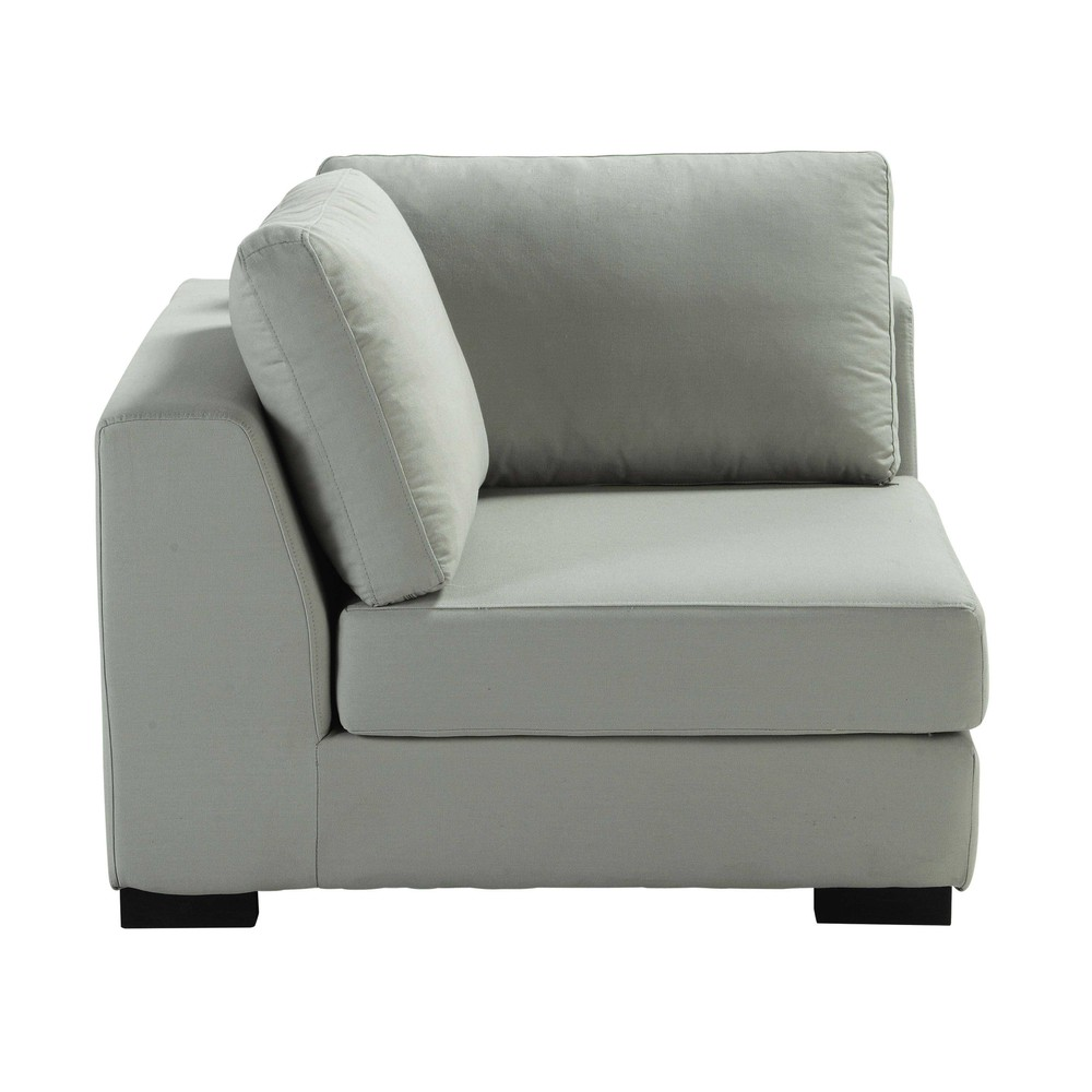 angle de canap en coton gris clair terence maisons du monde. Black Bedroom Furniture Sets. Home Design Ideas