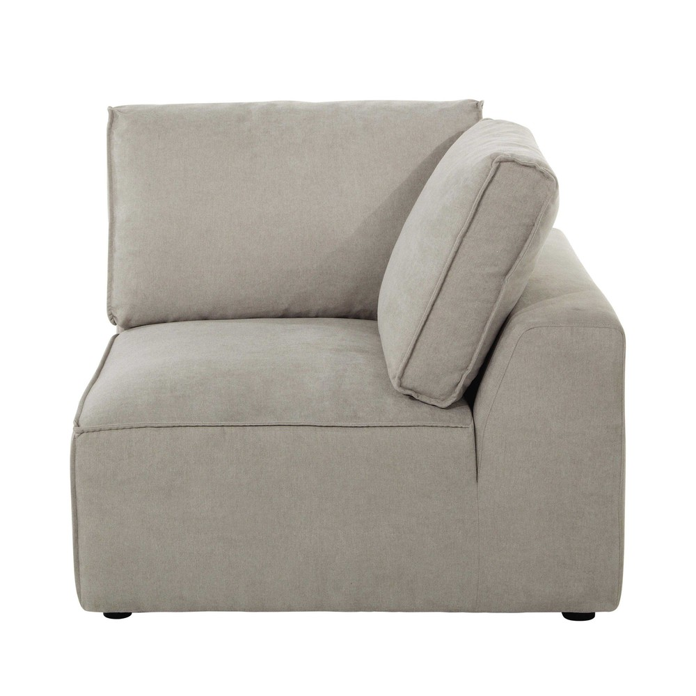angle de canap en tissu beige malo maisons du monde. Black Bedroom Furniture Sets. Home Design Ideas