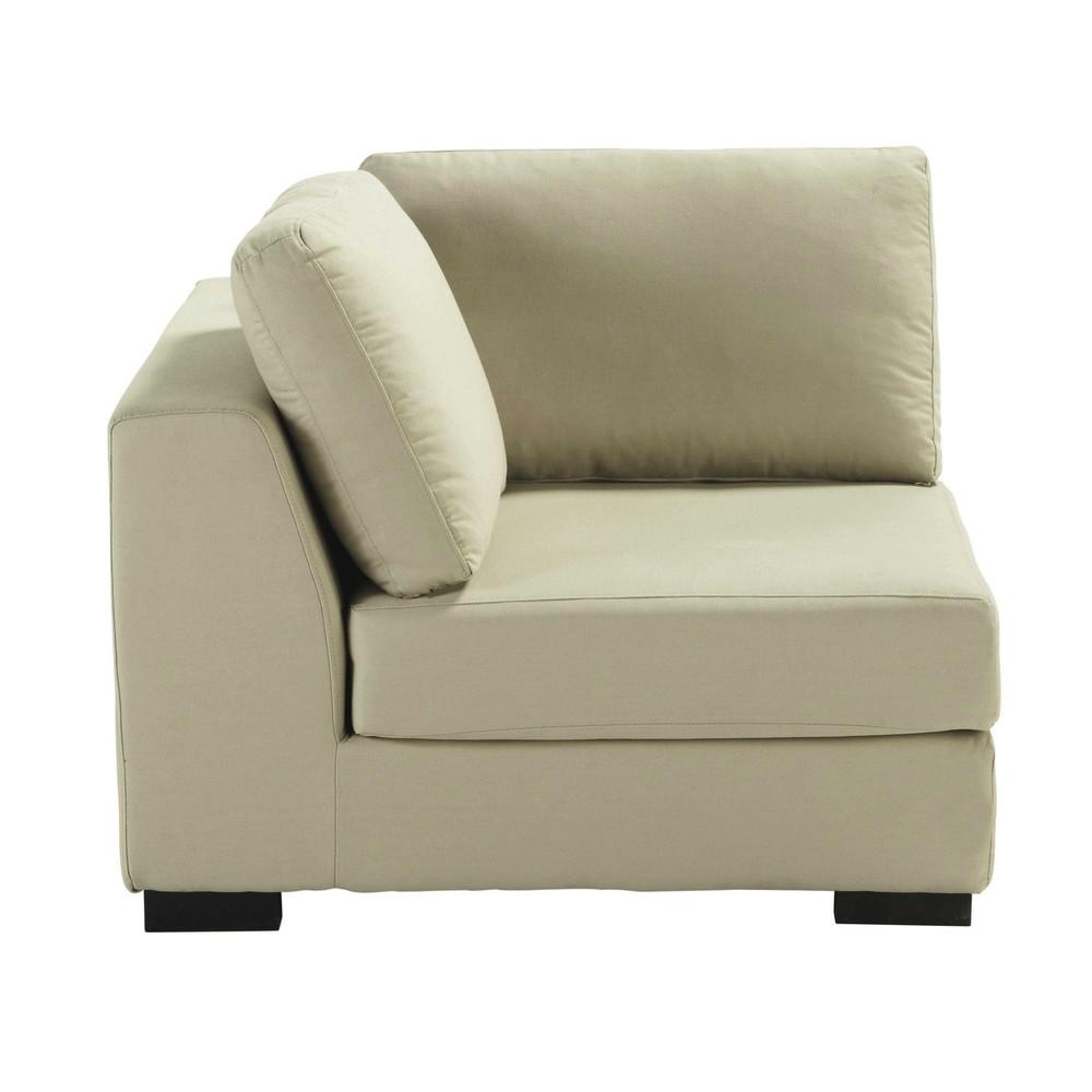 Angolo di divano beige-grigio chiaro in cotone Terence ...