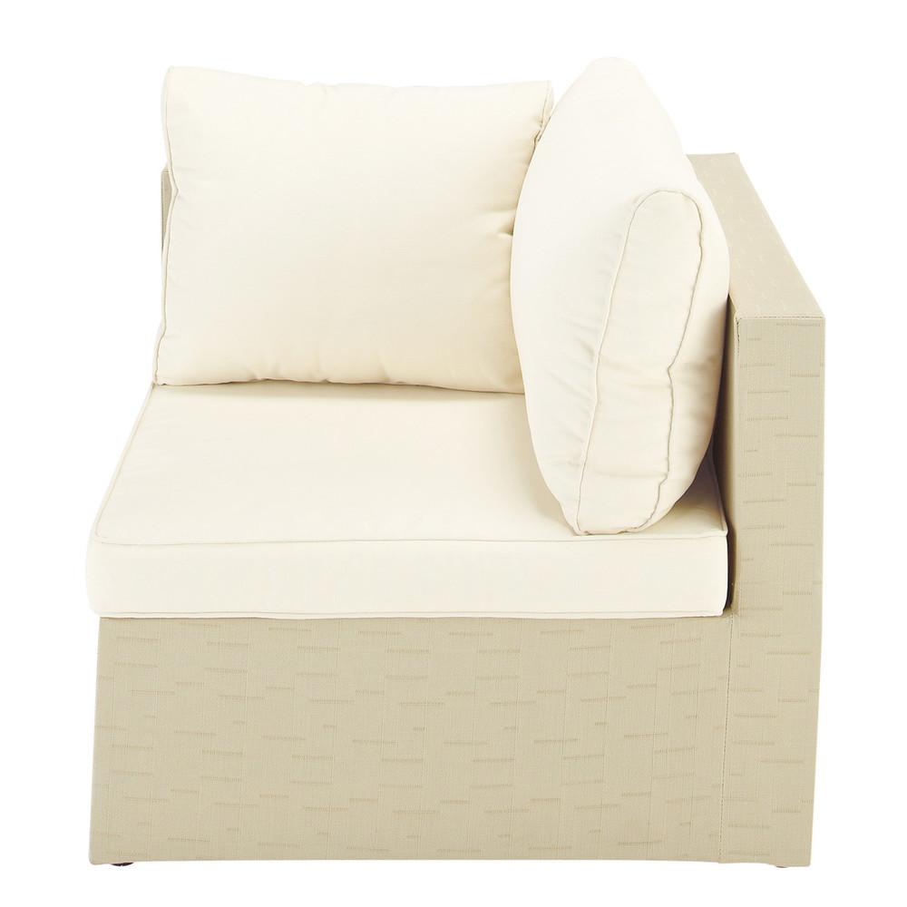 Angolo di divano da esterno beige ibiza ibiza maisons - Maison du monde cuscini da esterno ...