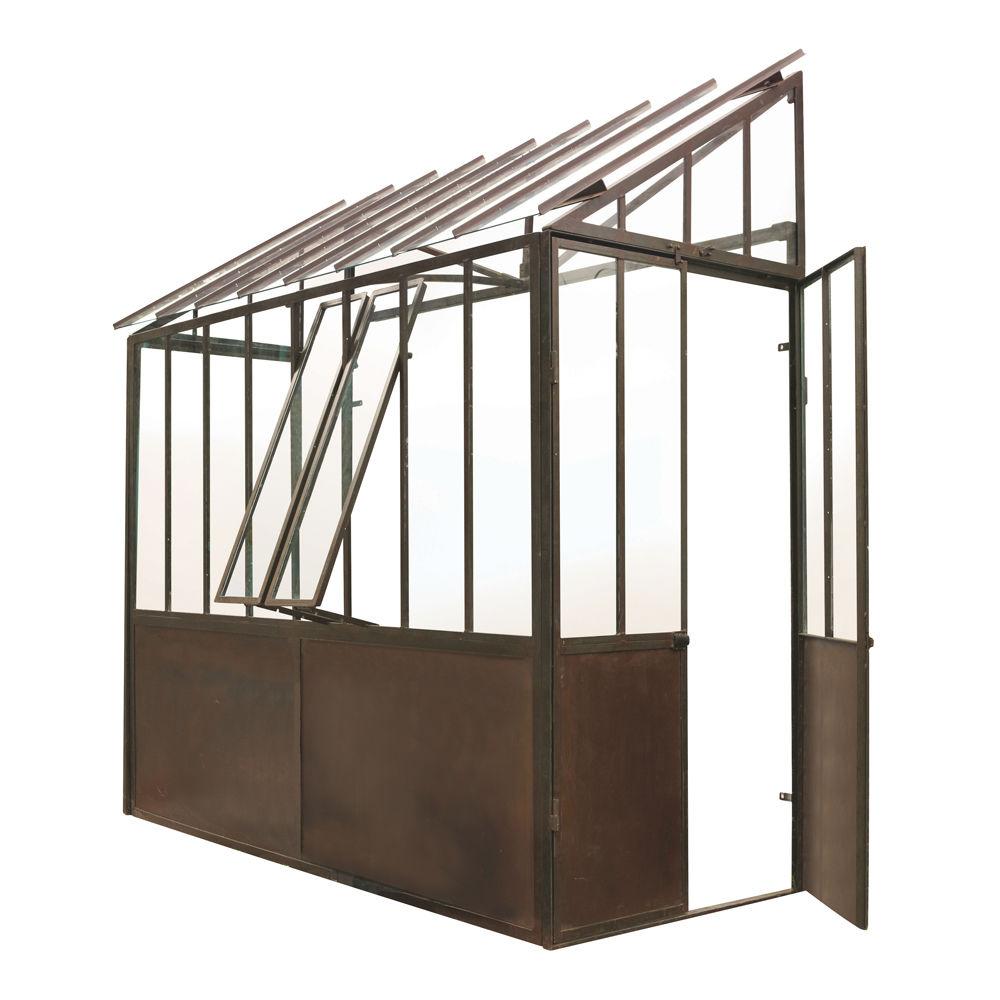 Anlehngewachshaus Aus Metall Mit Rosteffekt H 245 Cm Tuileries