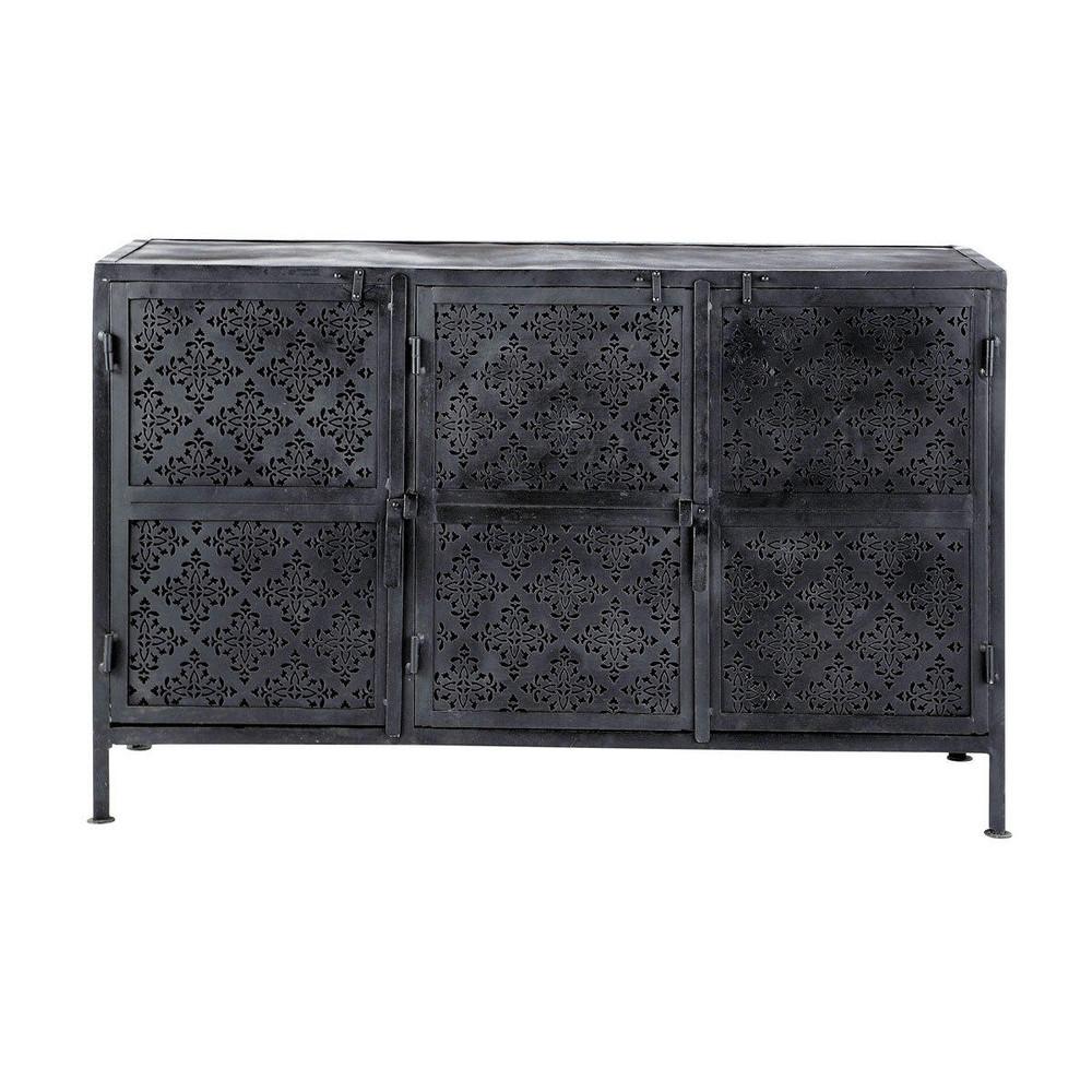 Anrichte aus Metall, B 130 cm, schwarz Menara  Maisons du ...