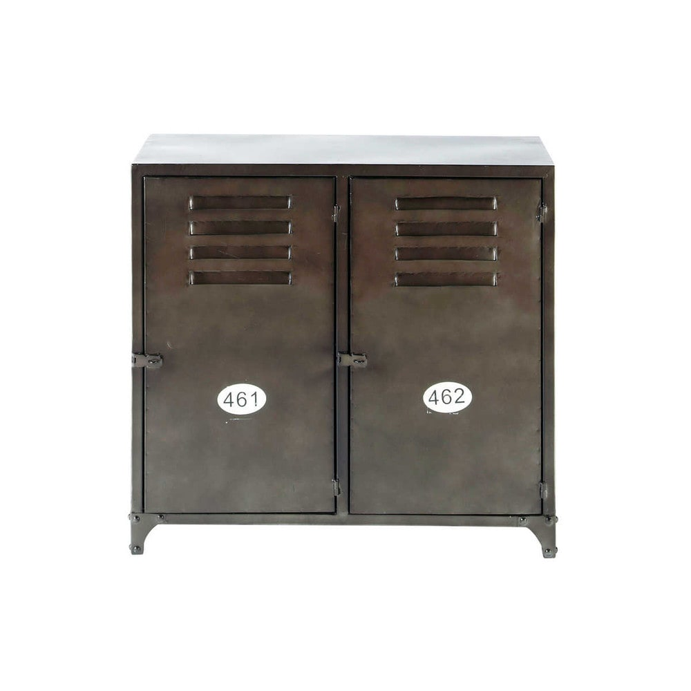 antiqued metal sideboard w 70cm wayne maisons du monde. Black Bedroom Furniture Sets. Home Design Ideas