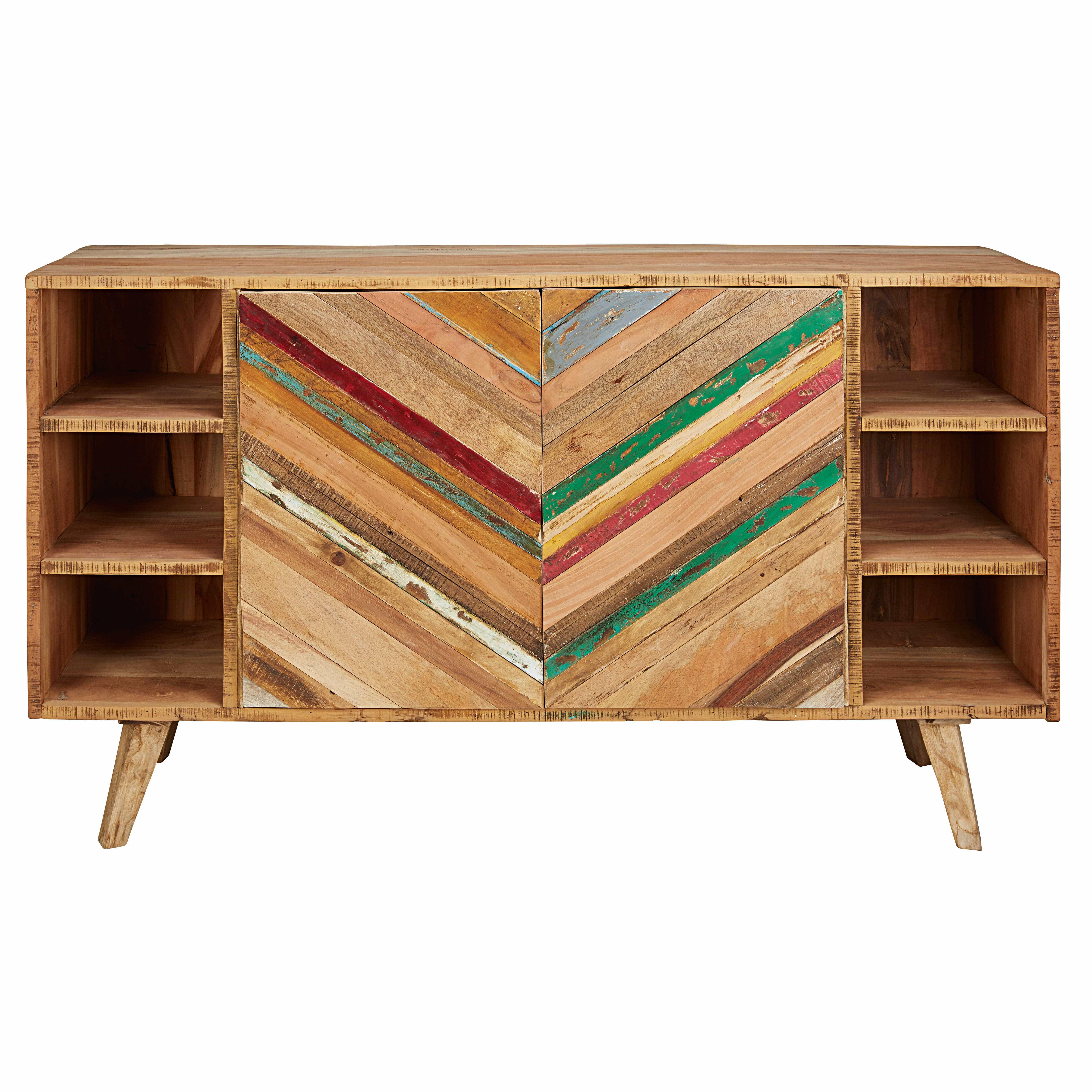 Aparador con 2 puertas de madera reciclada coachella for Maison du monde credenze