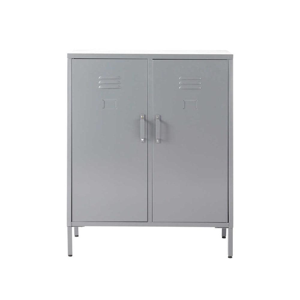 Aparador Buffet Madeira ~ Aparador de 2 puertas de metal gris Cirrus Cirrus