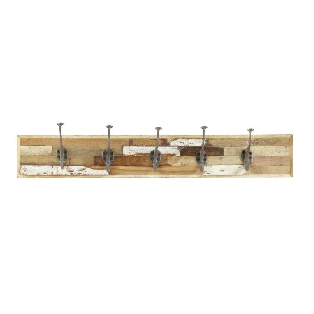 Appendiabiti in legno con 5 ganci auray maisons du monde for Appendiabiti maison du monde