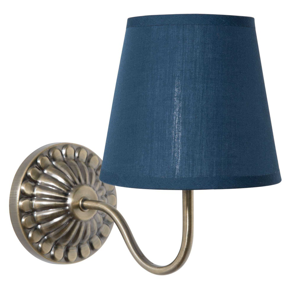 abat jour sospese : Applique in metallo con abat-jour blu H 30 cm ORNELLA Maisons du ...
