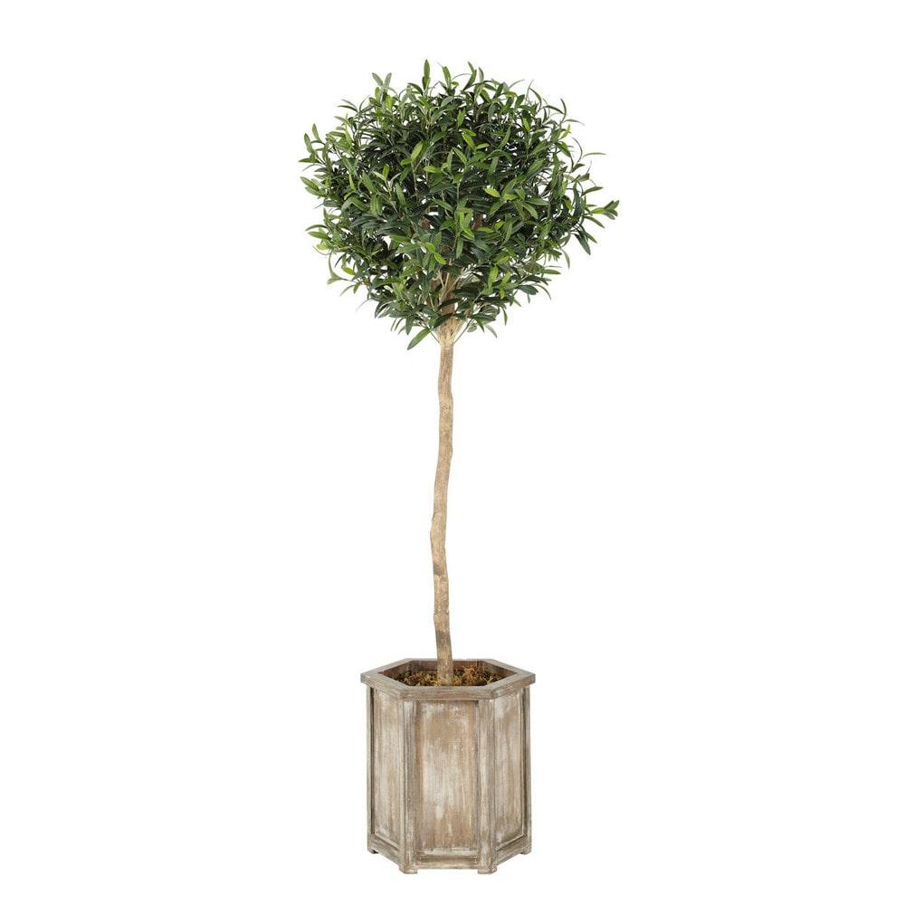 Arbuste artificiel olivier alpilles maisons du monde for Arbuste artificiel