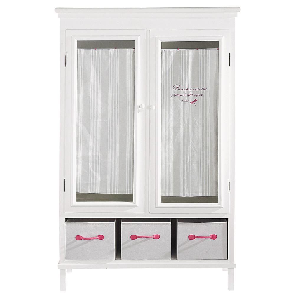 armadio per bambini bianco in legno l 120 cm libellule. Black Bedroom Furniture Sets. Home Design Ideas