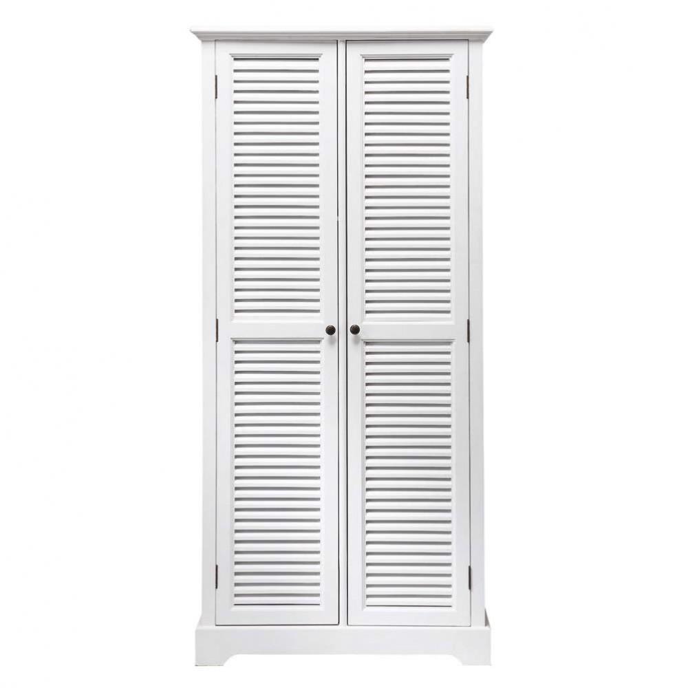 Armario de madera blanco an 86 cm barbade maisons du monde - Armario madera blanco ...