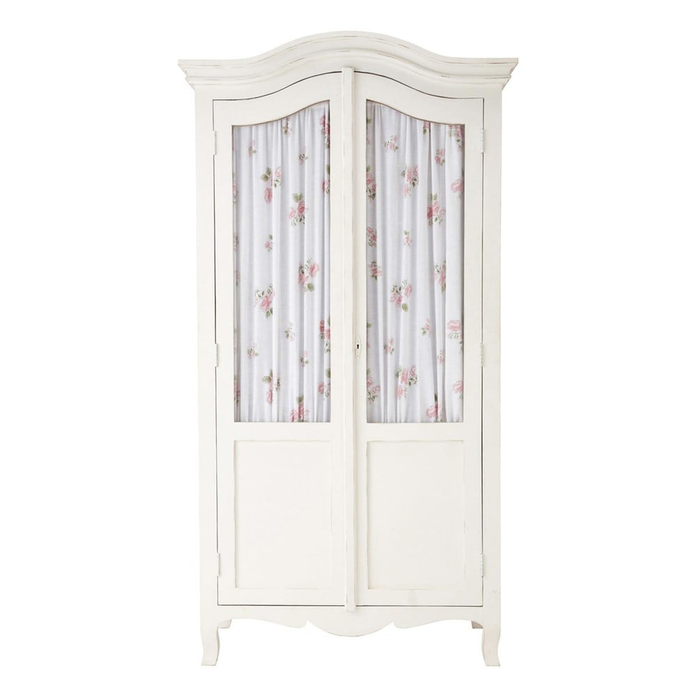 armoire blanche shabby maisons du monde. Black Bedroom Furniture Sets. Home Design Ideas
