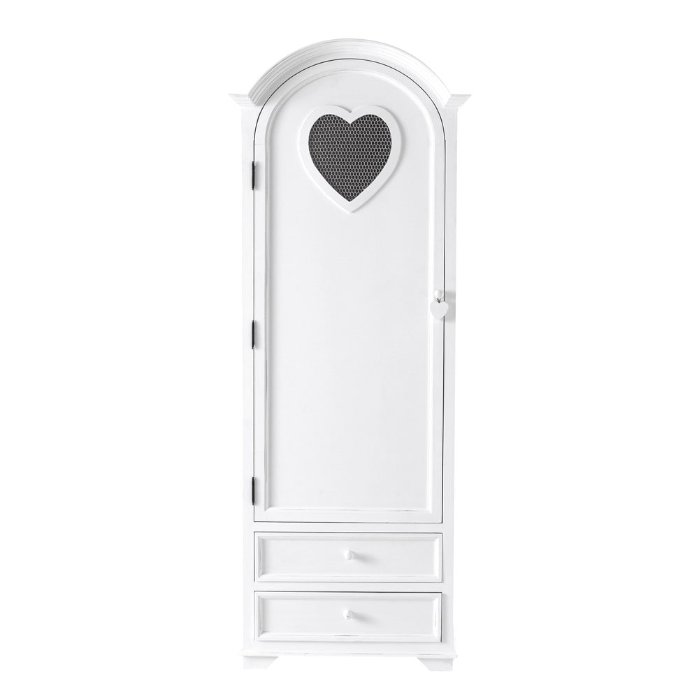 armoire bonneti re en bois blanc l 74 cm valentine maisons du monde. Black Bedroom Furniture Sets. Home Design Ideas