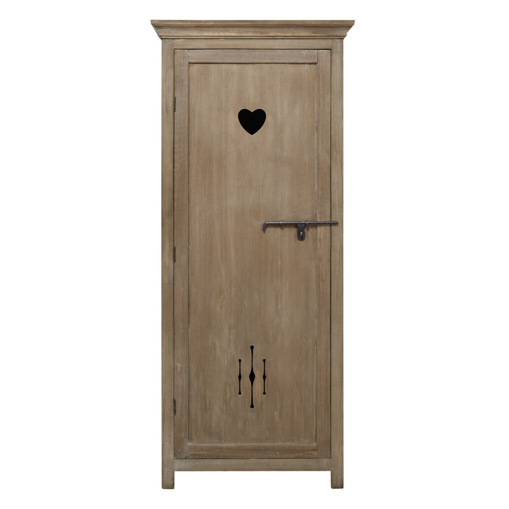 armoire bonneti re en bois de paulownia heidi maisons du monde. Black Bedroom Furniture Sets. Home Design Ideas