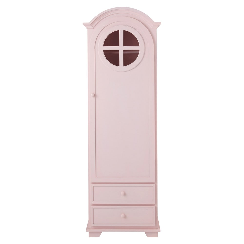 armoire bonneti re en bois rose l 62 cm pastel maisons du monde. Black Bedroom Furniture Sets. Home Design Ideas