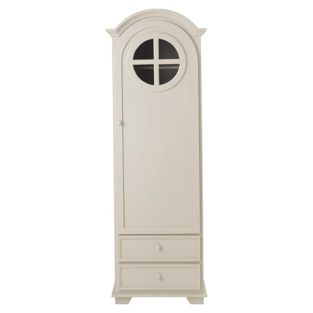 armoire bonneti re en bois taupe l 62 cm pastel maisons du monde. Black Bedroom Furniture Sets. Home Design Ideas