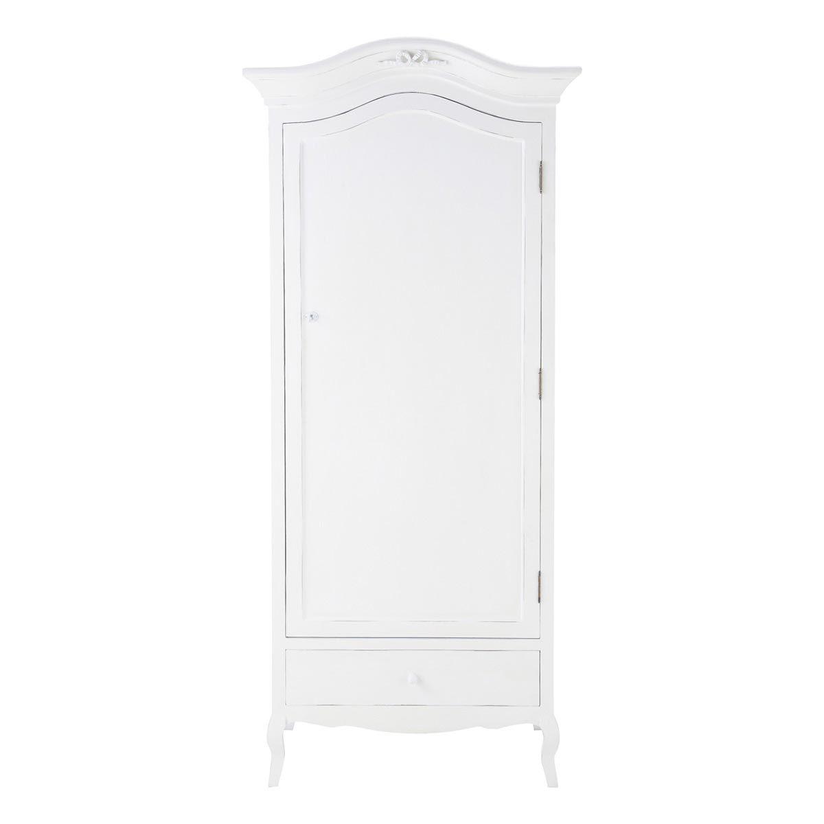 armoire en bois blanche l 90 cm | maisons du monde