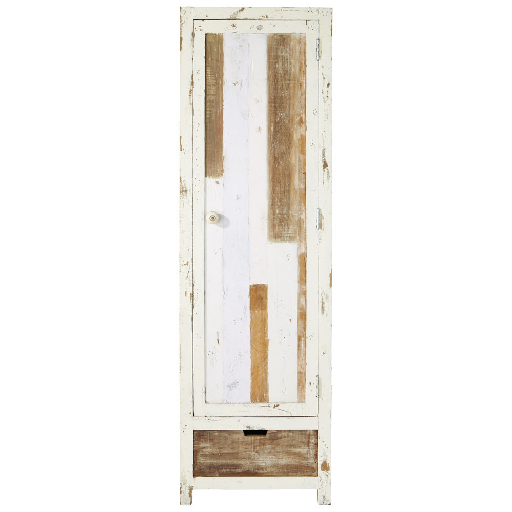 armoire en bois recycl l 58 cm arcachon maisons du monde. Black Bedroom Furniture Sets. Home Design Ideas