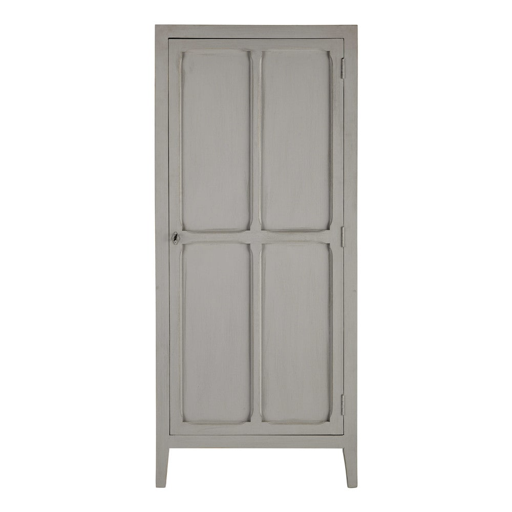 armoire en manguier gris l 75 cm pensionnat maisons du monde. Black Bedroom Furniture Sets. Home Design Ideas