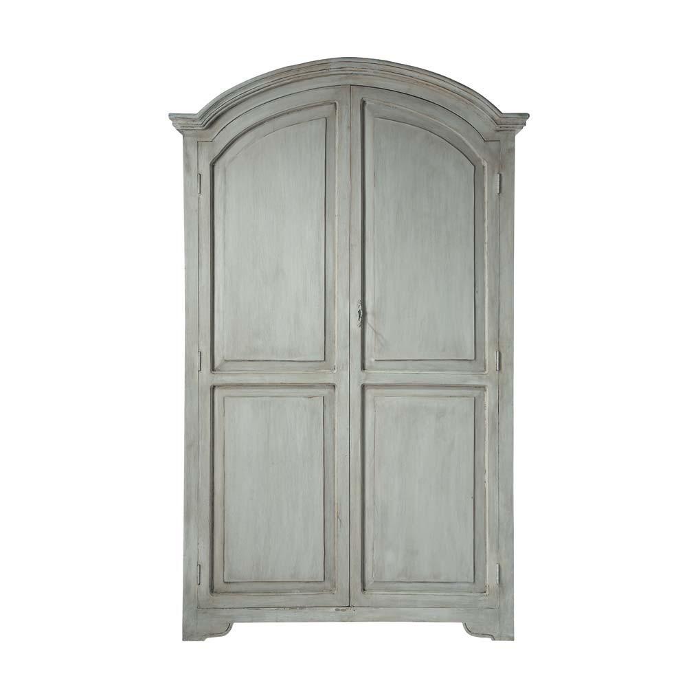 armoire en manguier gris perle l 130 cm saint r my maisons du monde. Black Bedroom Furniture Sets. Home Design Ideas