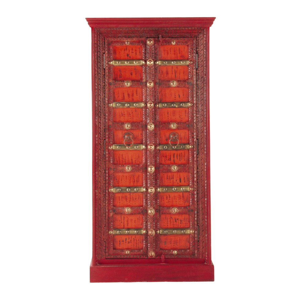armoire en manguier massif rouge l 90 cm madras maisons. Black Bedroom Furniture Sets. Home Design Ideas