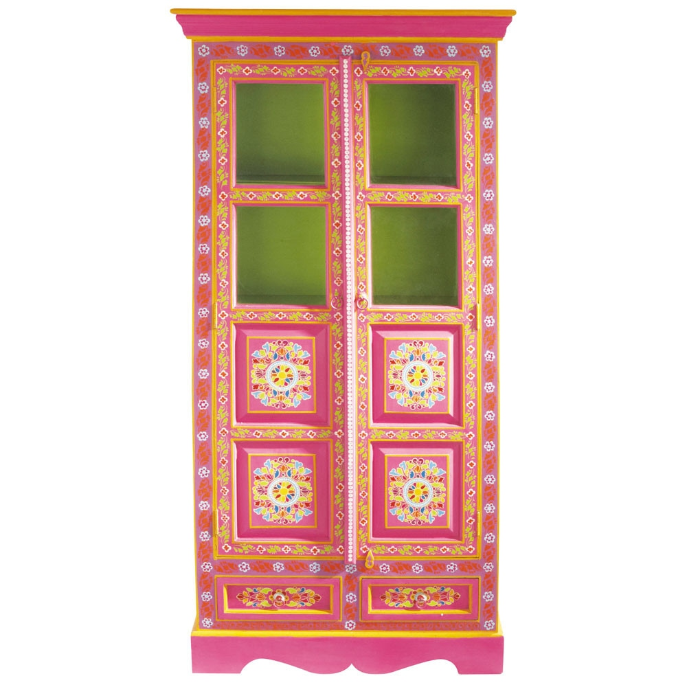 Armoire en manguier multicolore l 90 cm roulotte maisons for Maison du monde chemin de table