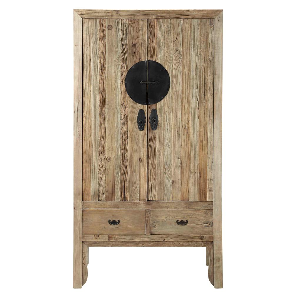 armoire en orme l 100 cm lotus maisons du monde. Black Bedroom Furniture Sets. Home Design Ideas