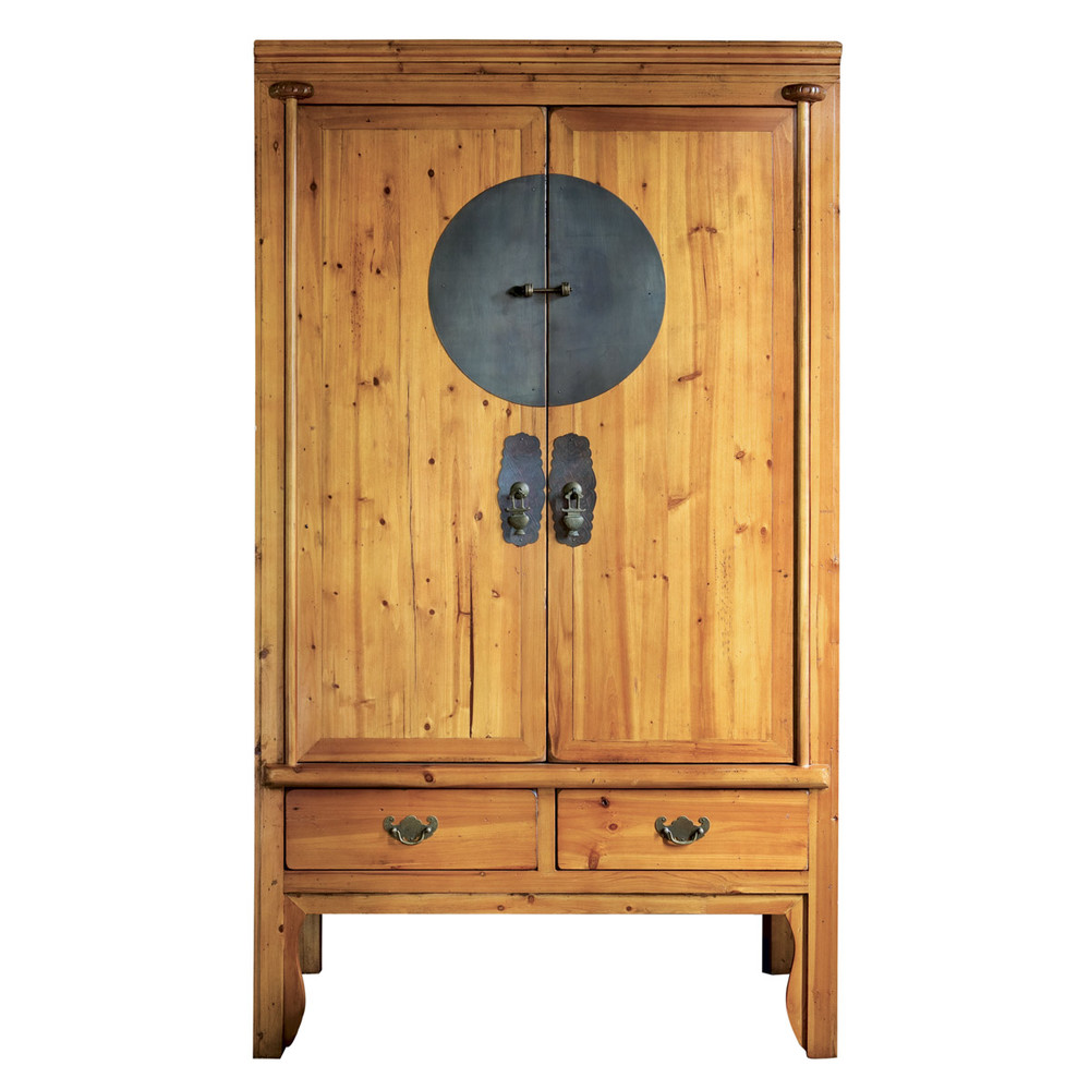 armoire en orme recycl l 104 cm beijing maisons du monde. Black Bedroom Furniture Sets. Home Design Ideas