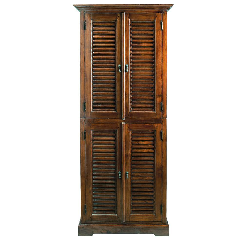 armoire en teck massif l 85 cm key largo maisons du monde. Black Bedroom Furniture Sets. Home Design Ideas