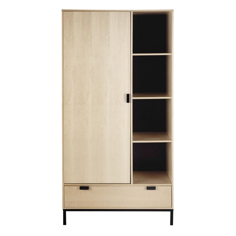 armoire l 98 cm graphik maisons du monde. Black Bedroom Furniture Sets. Home Design Ideas
