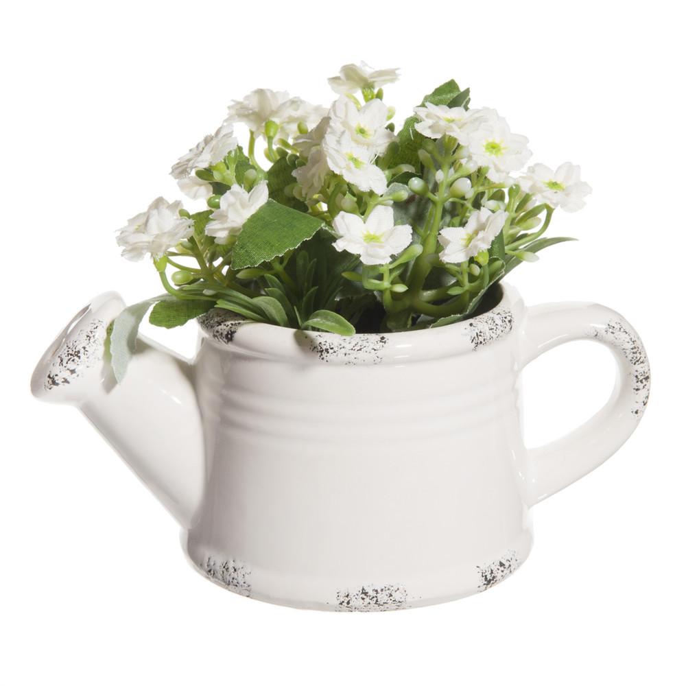 arrosoir fleurs blanches maisons du monde. Black Bedroom Furniture Sets. Home Design Ideas