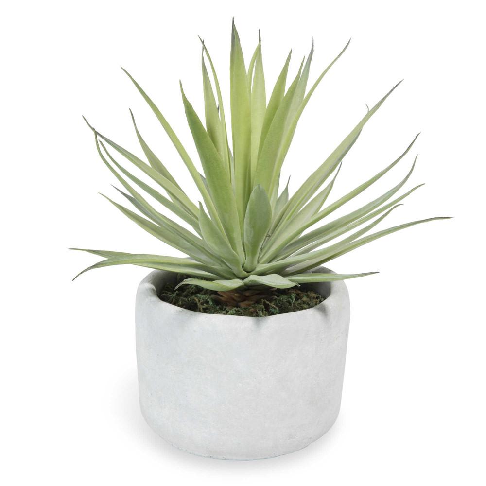 Artificial yucca pot plant h 8cm maisons du monde for Plante yucca