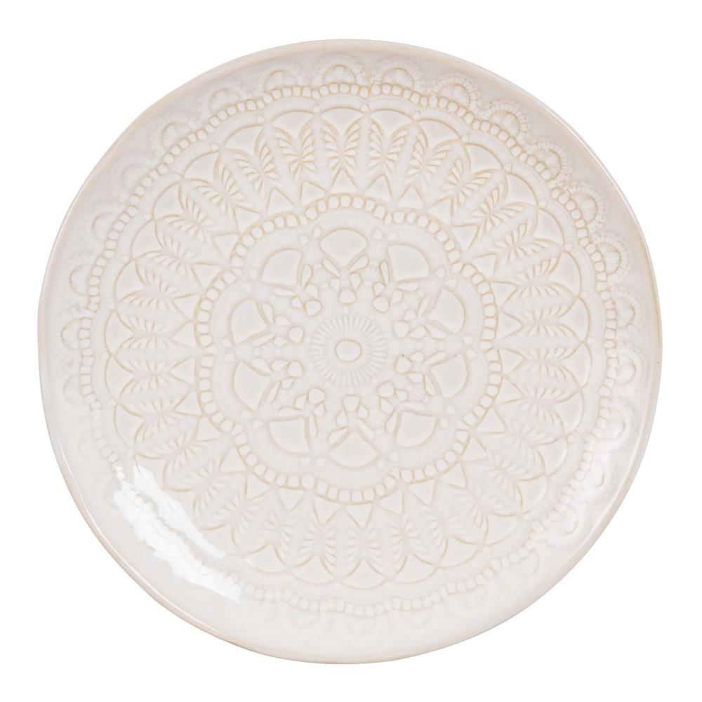 Assiette dessert en fa ence grise motifs namaste for Faience grise