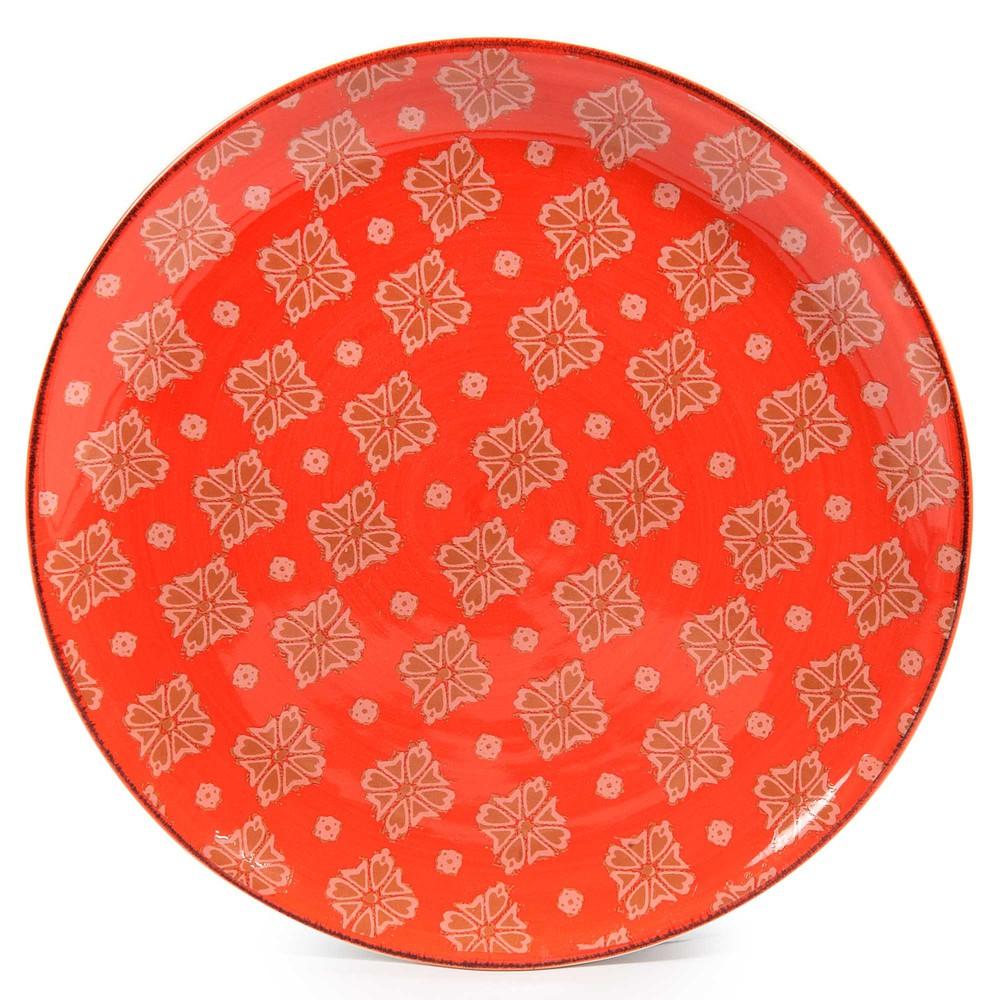 Assiette dessert en fa ence orange d 21 cm madalena - Decoration assiette dessert ...