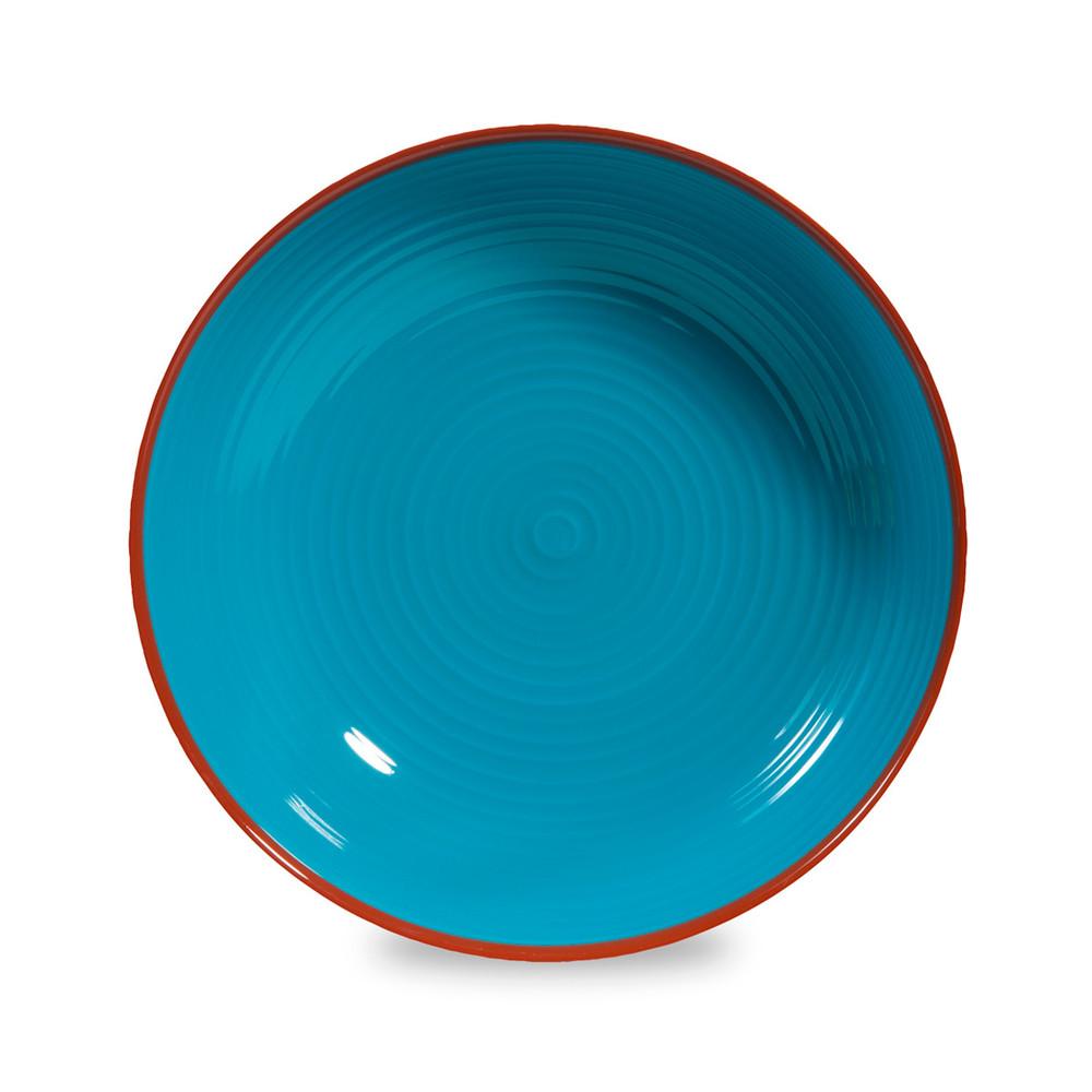 assiette creuse en fa ence bleue d 20 cm madrid maisons. Black Bedroom Furniture Sets. Home Design Ideas