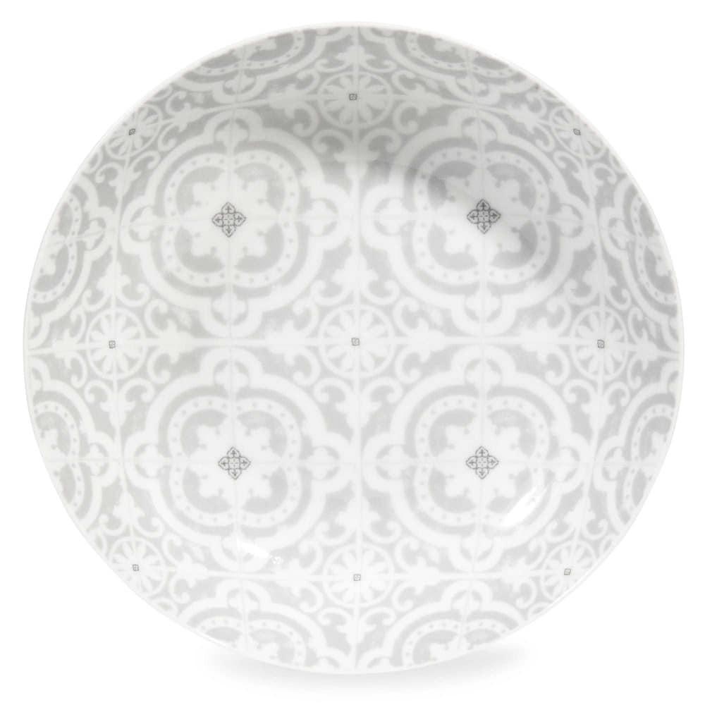 assiette creuse en porcelaine grise chambord maisons du monde. Black Bedroom Furniture Sets. Home Design Ideas
