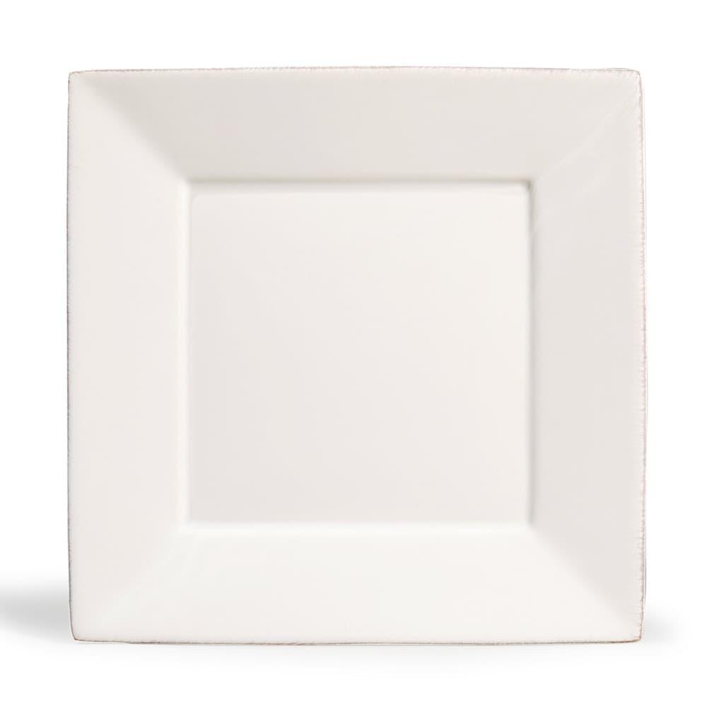 assiette plate carr e en fa ence blanche l 27 cm. Black Bedroom Furniture Sets. Home Design Ideas