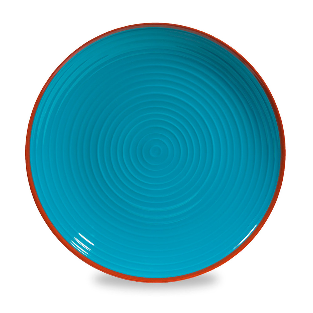 assiette plate en fa ence bleue d 27 cm madrid maisons du monde. Black Bedroom Furniture Sets. Home Design Ideas