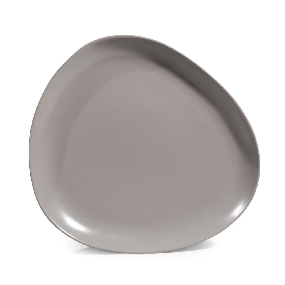 assiette plate grise